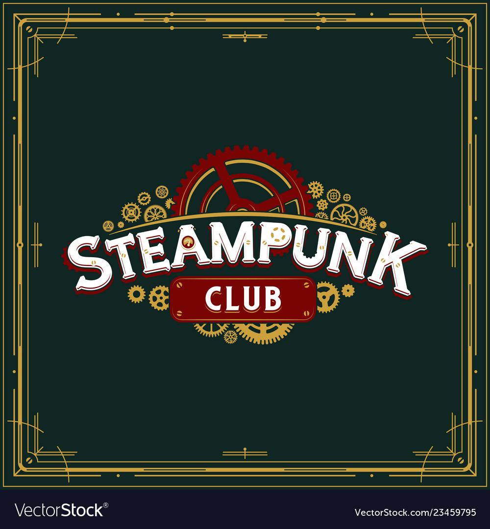 Steampunk club insignia design victorian era