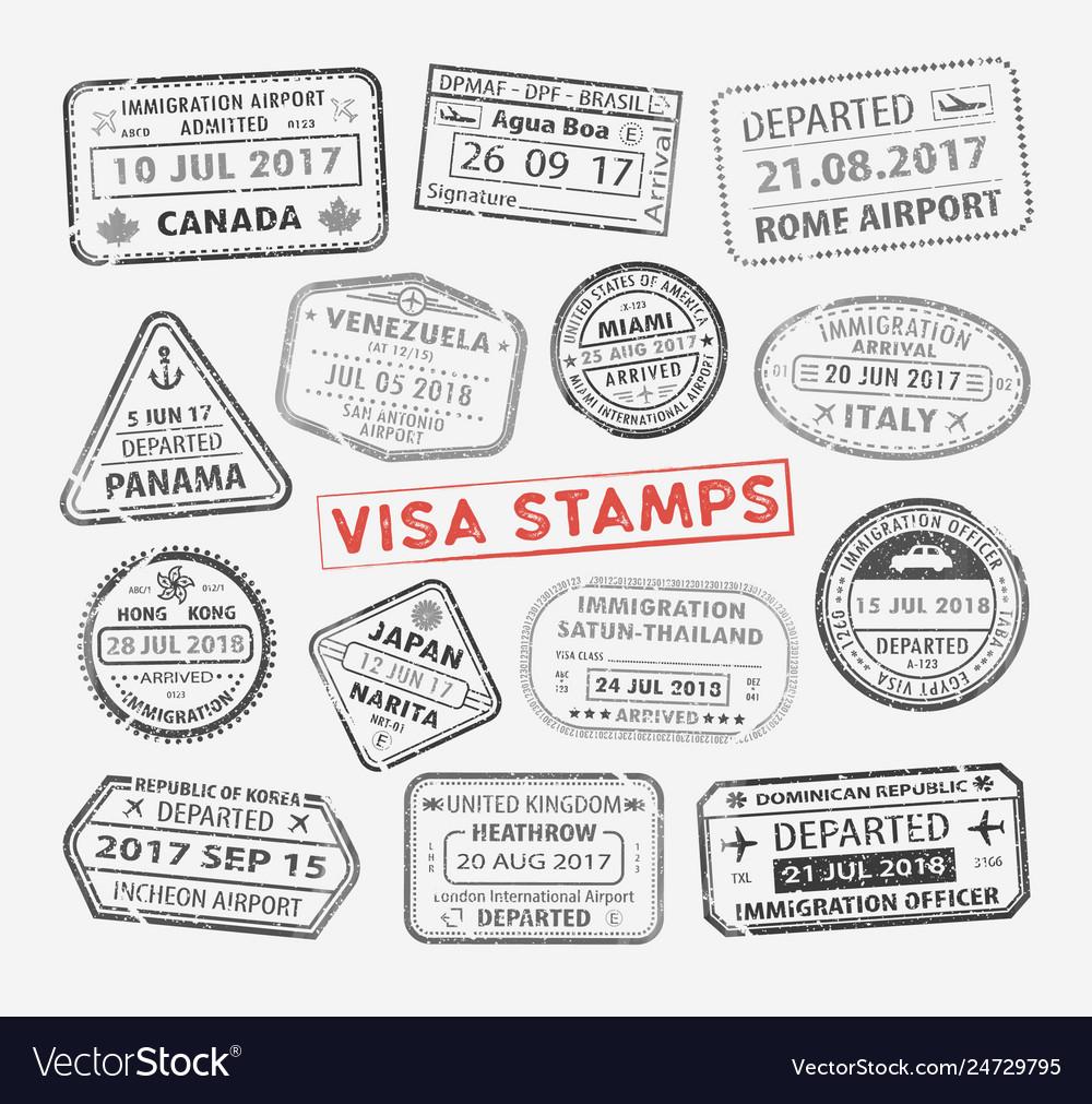 Visa passport stamp
