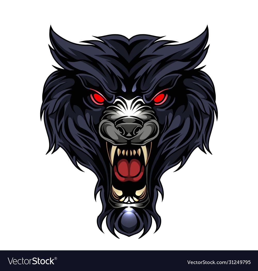 Wild wolf head esport mascot logo