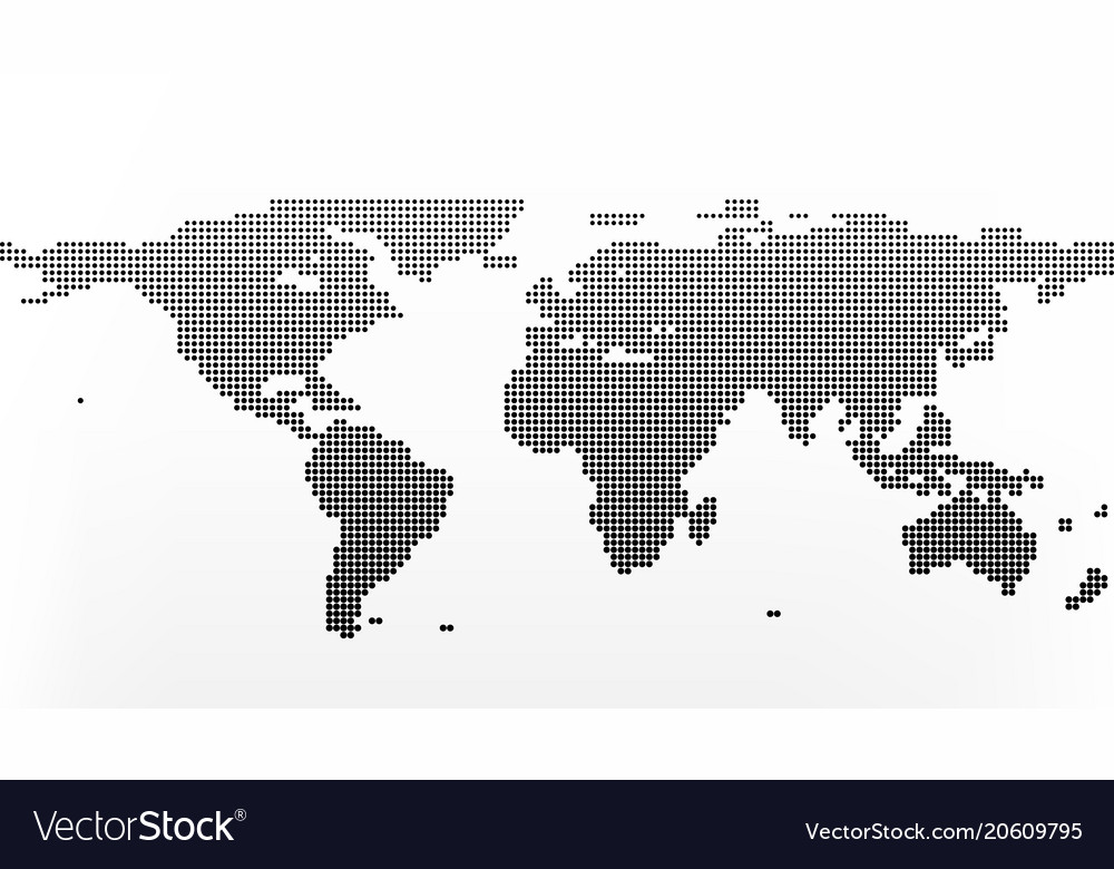 World map in dots earth business concept in flat