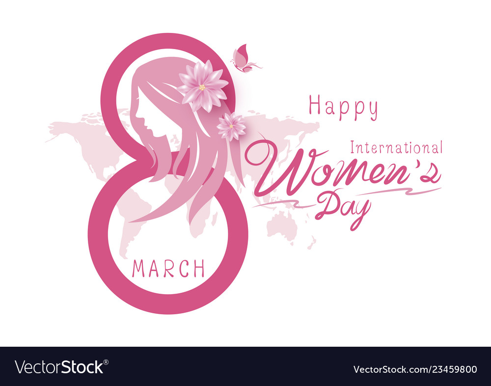 8 march happy international womens day Royalty Free Vector