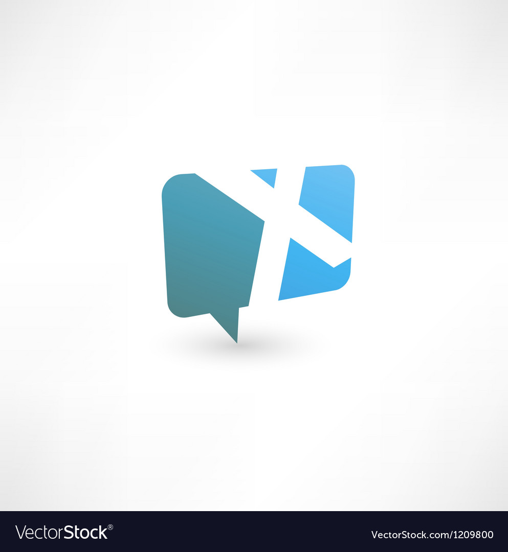 Abstract bubble icon based on the letter X vector image