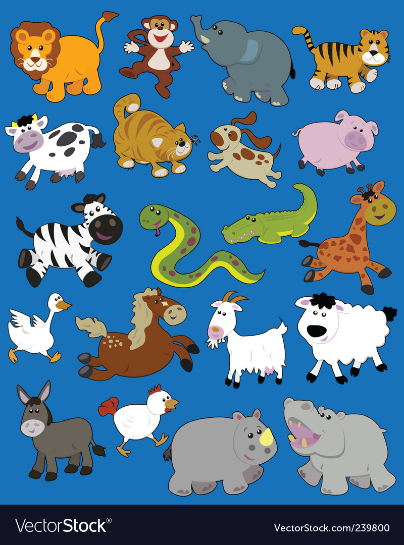 Animals kid drawings