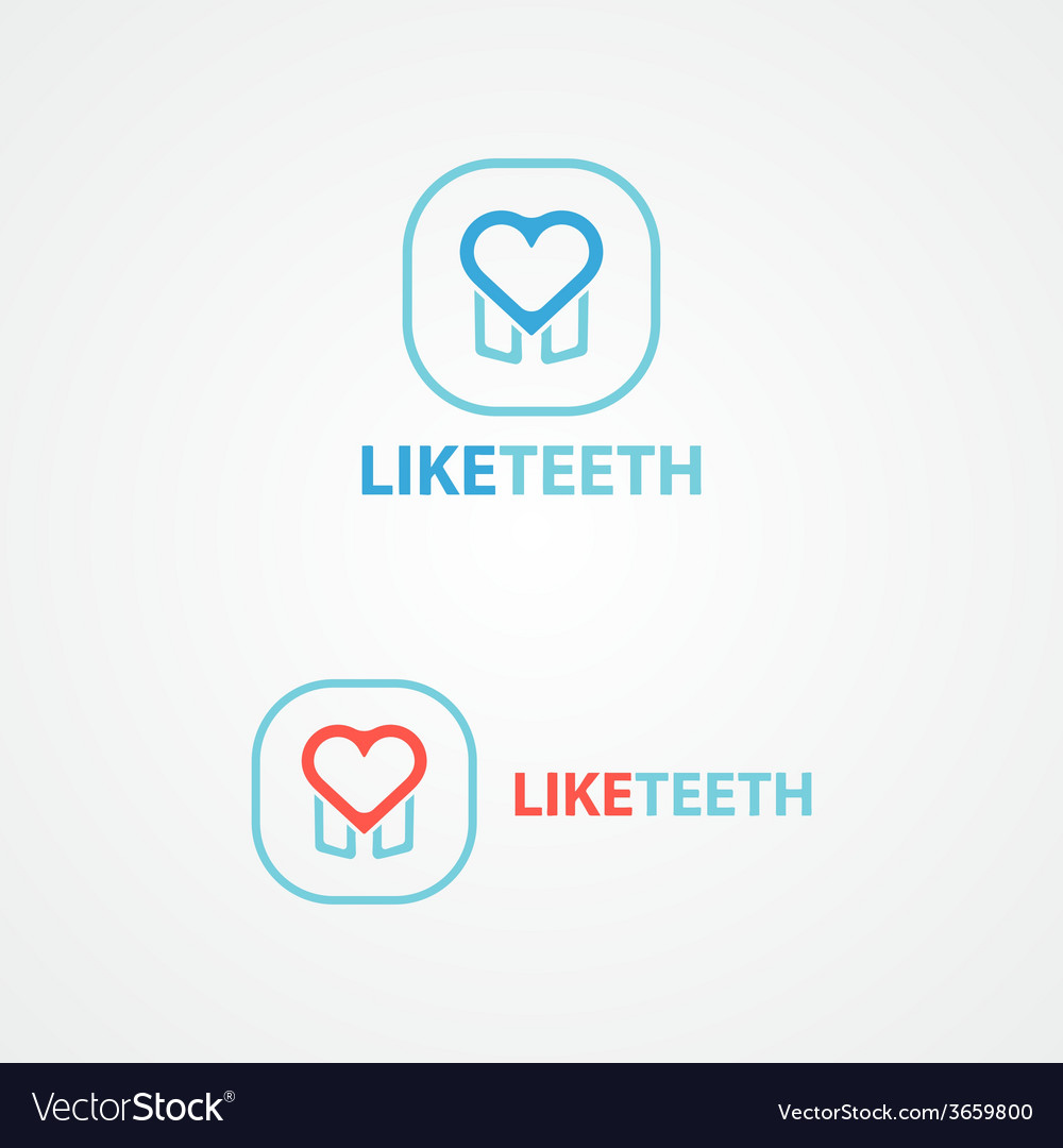 Logo Combination Of A Tooth And Heart Royalty Free Vector