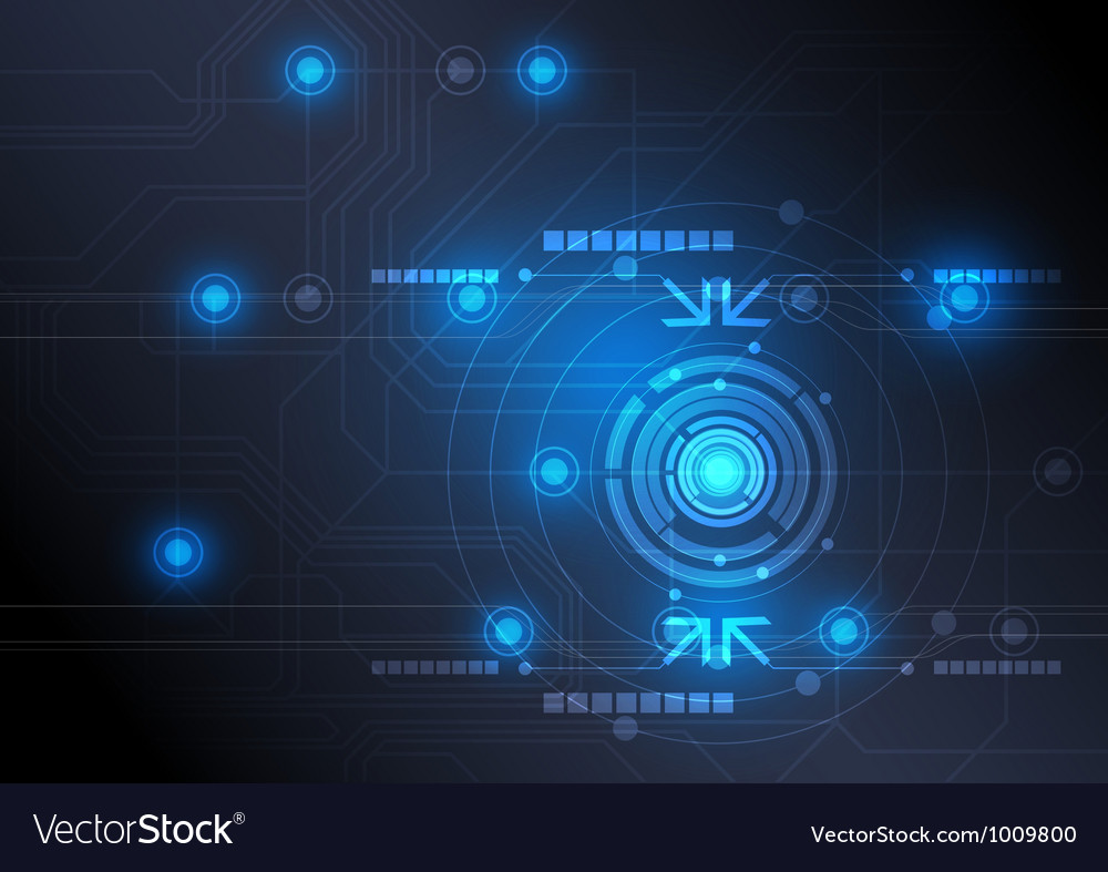 Modern button and technology background design