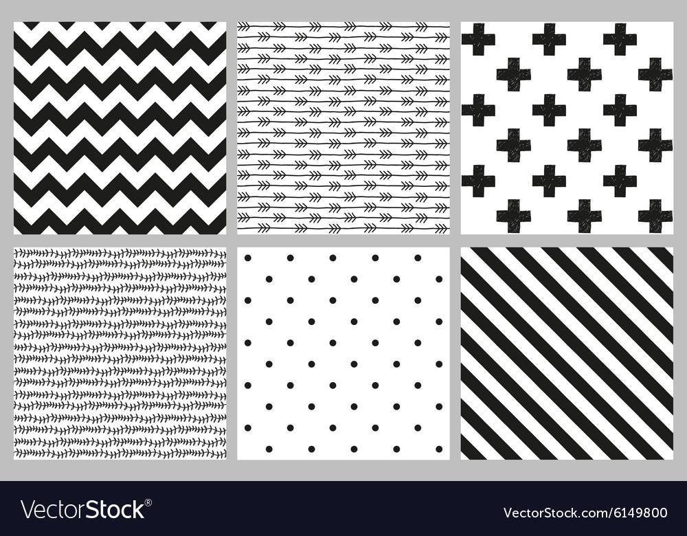 Scandinavian trend seamless patterns