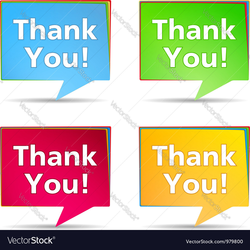 Speech Bubbles with Thank You words