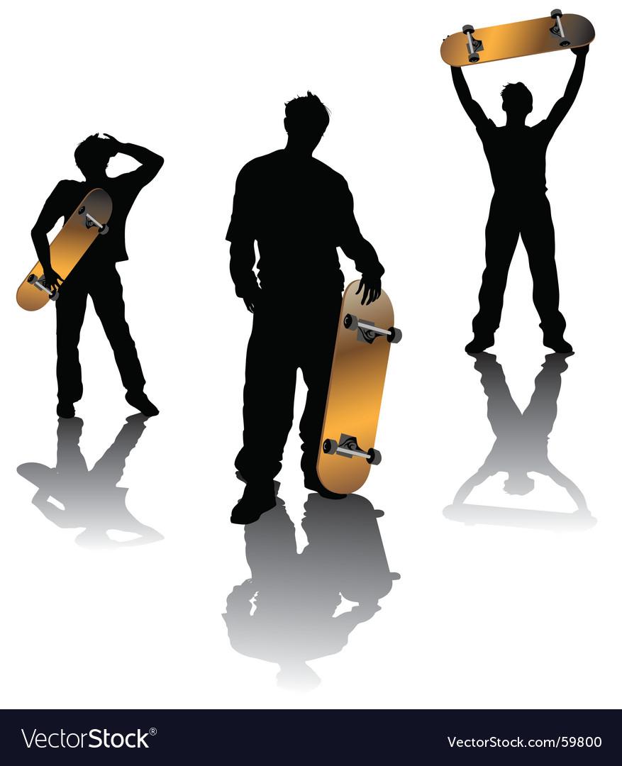 Teenagers vector image