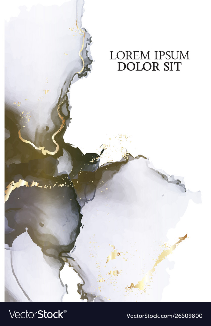 Tender pastel dark colors liquid flow with gold