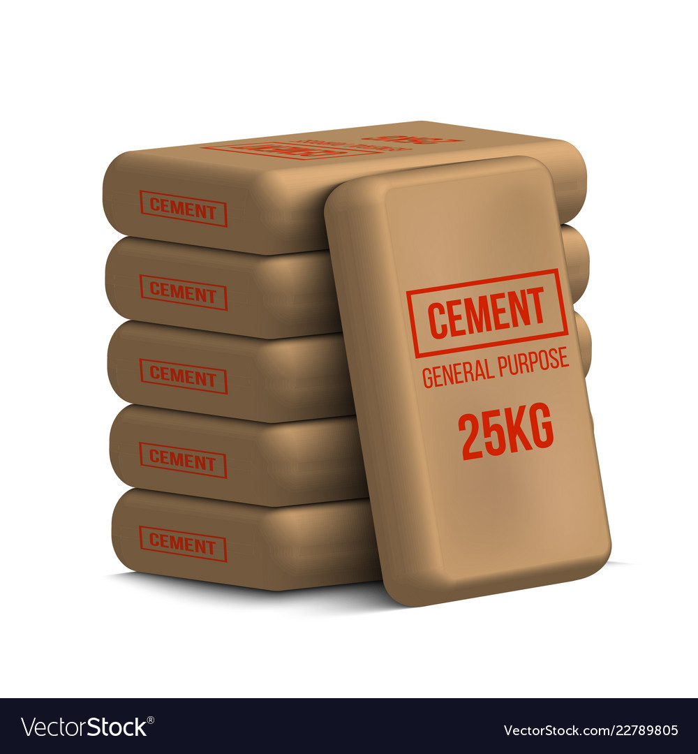 Creative Of Cement Bags Paper Royalty Free Vector Image