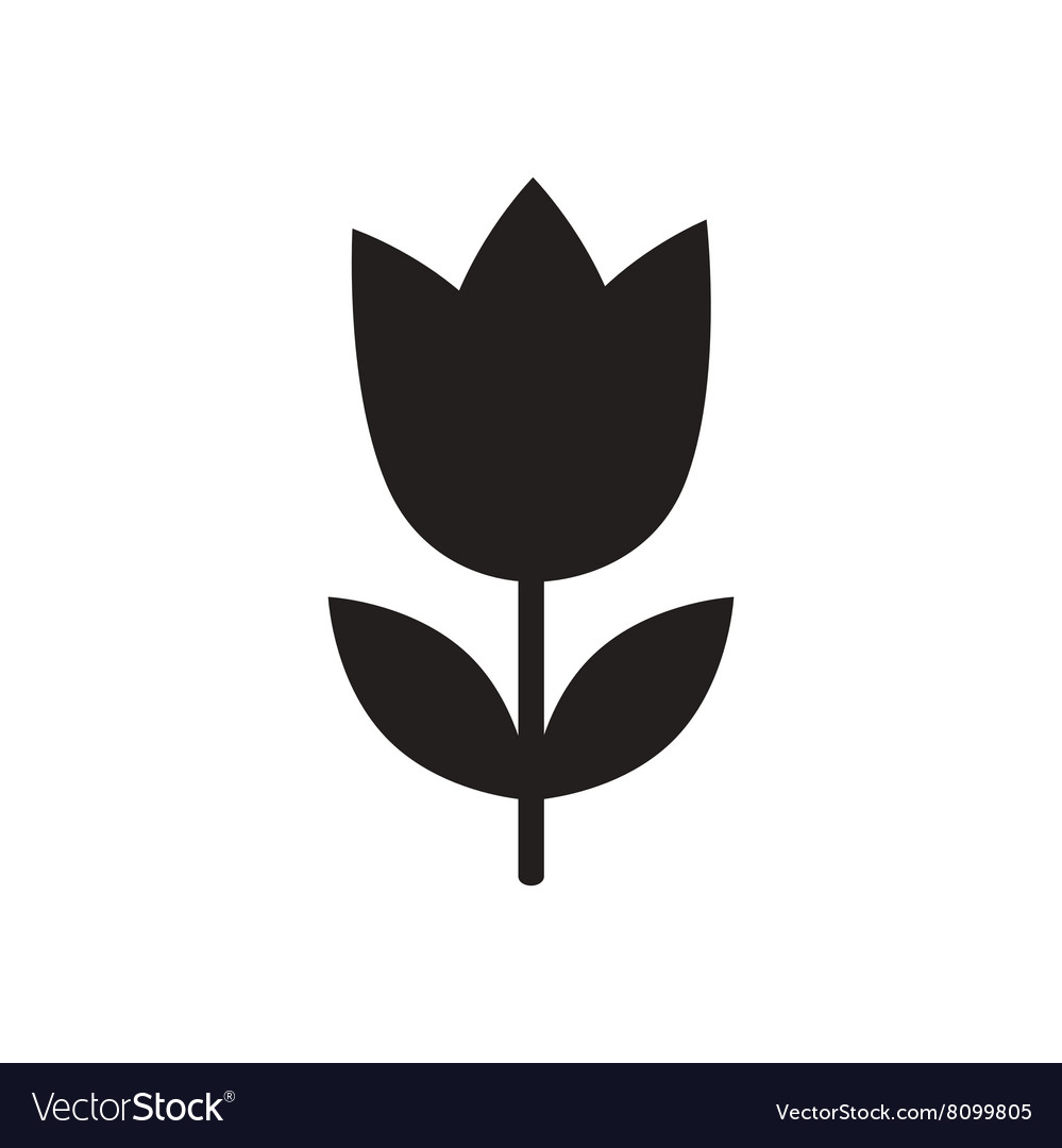 Flat icon in black and white flower royalty free vector flat icon in black and white flower vector image mightylinksfo