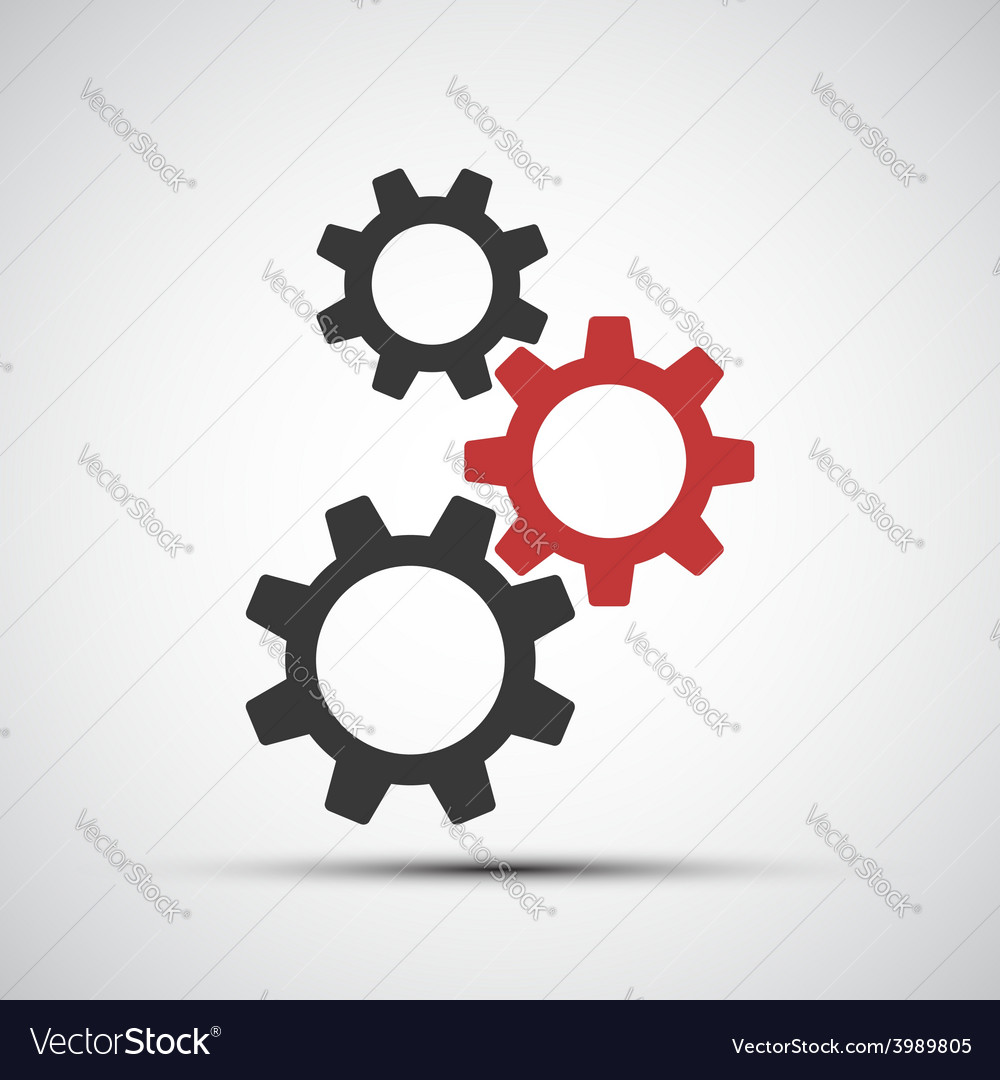 Icons of mechanical gears