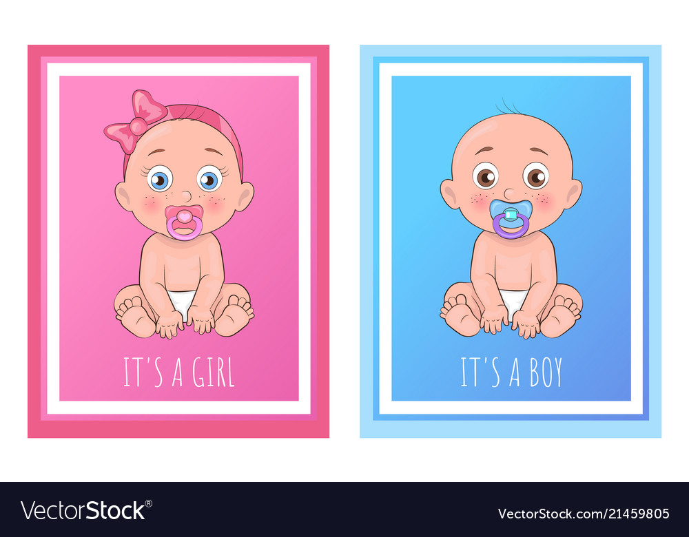 Its a boy and girl posters set newborn toddlers