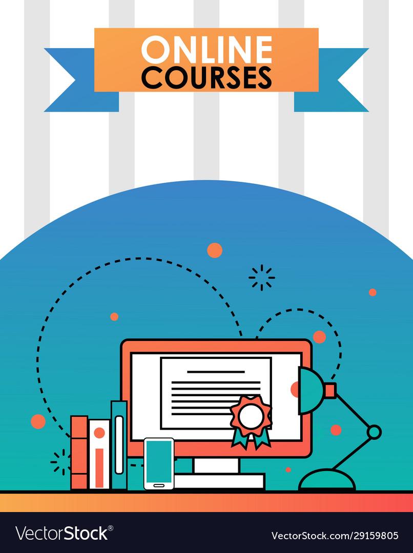 Online education course flat