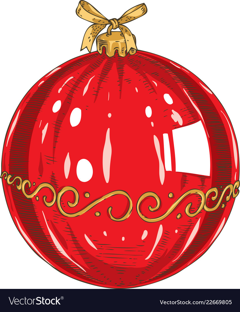Red christmas glass bauble