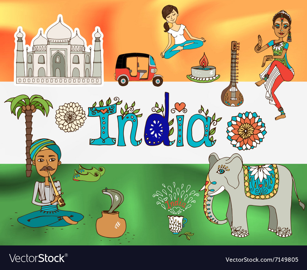 Republic india background vector image
