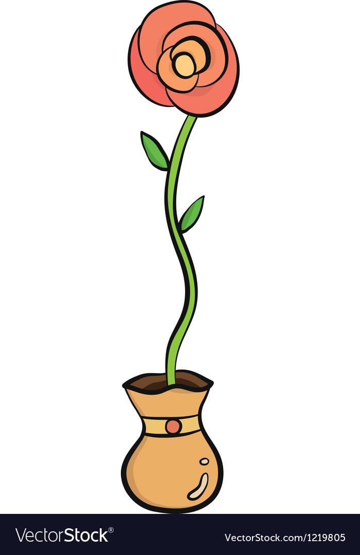 Rose in jar
