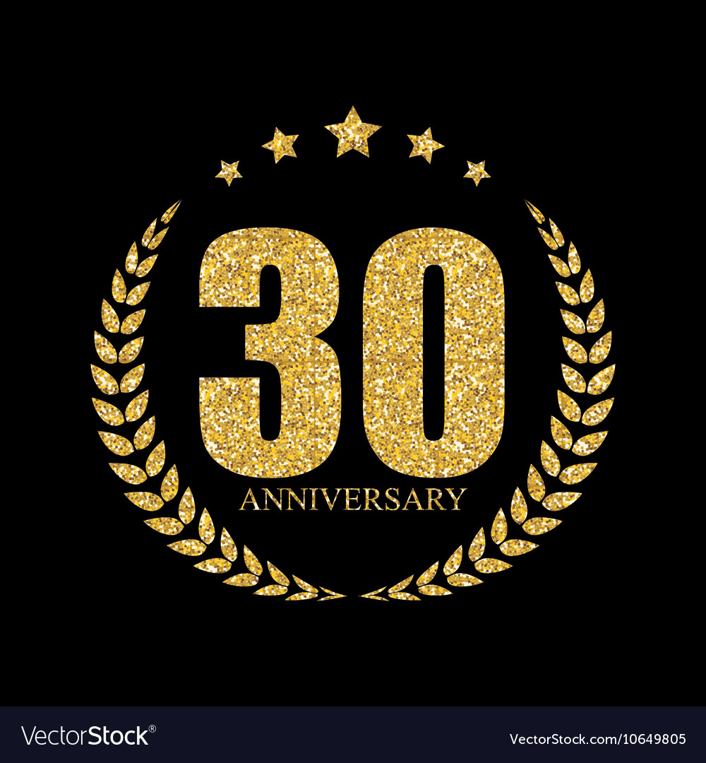 Template Logo 30 Years Anniversary Royalty Free Vector Image