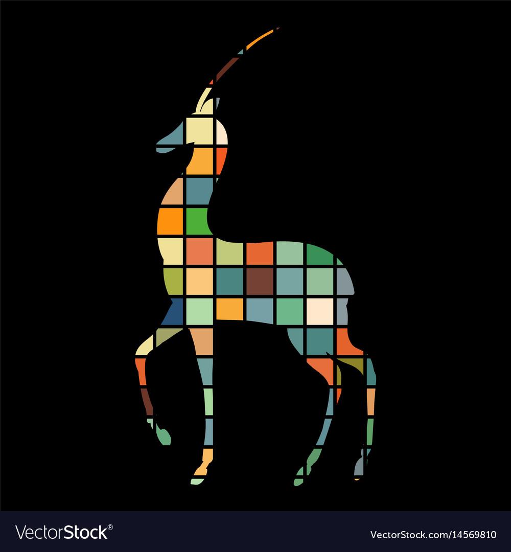 Antelope mammal color silhouette animal