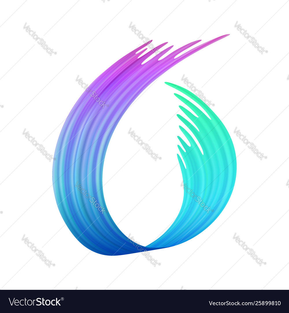 Colorful brushstroke or a loop shape brush