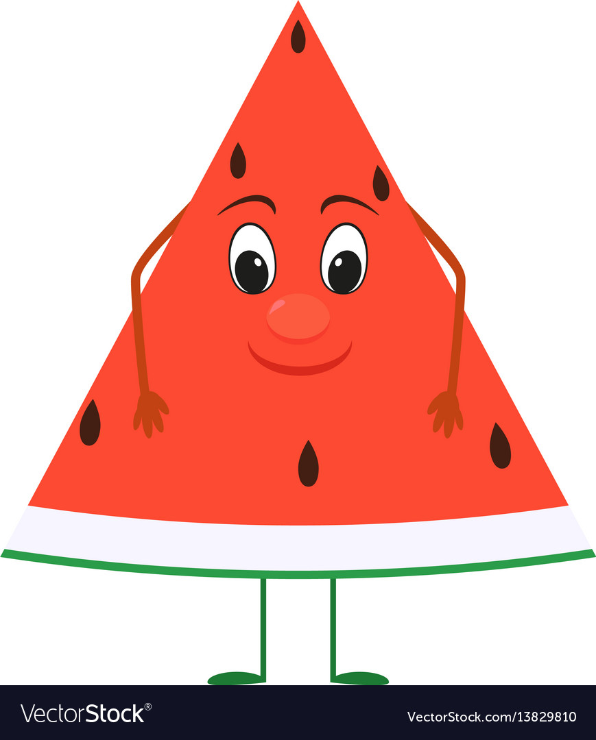 Cute cartoon watermelon with face