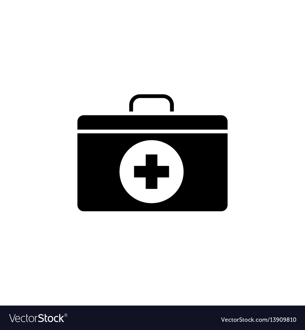 First aid box solid icon