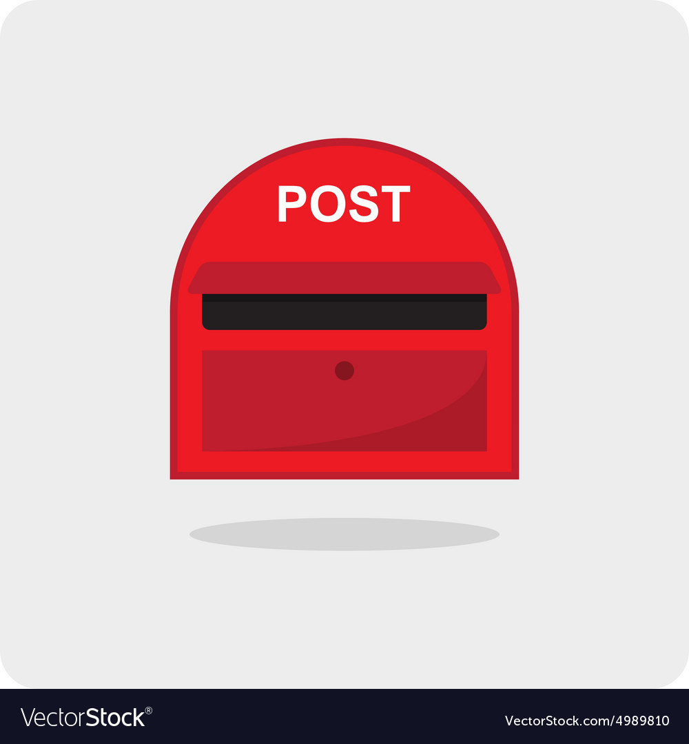 Flat icon red mail box