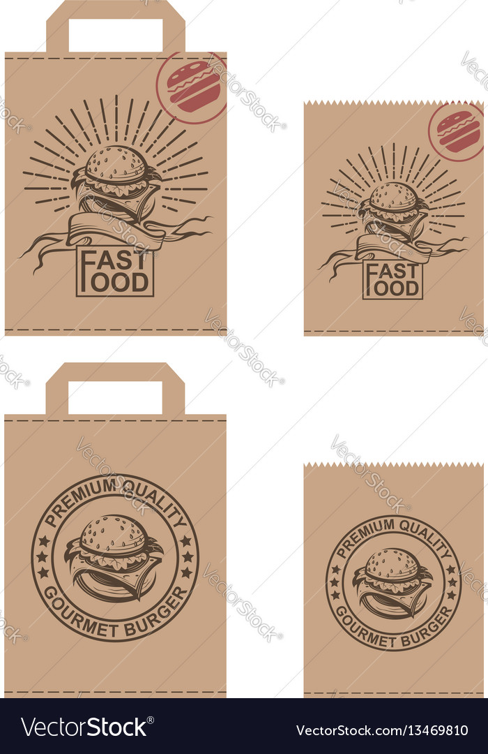 Image of package with burger