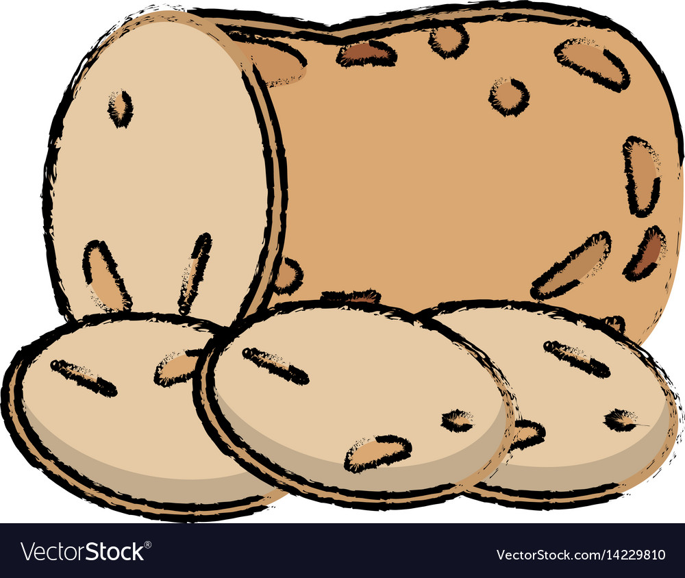 Potato slice food diet healthy vector image