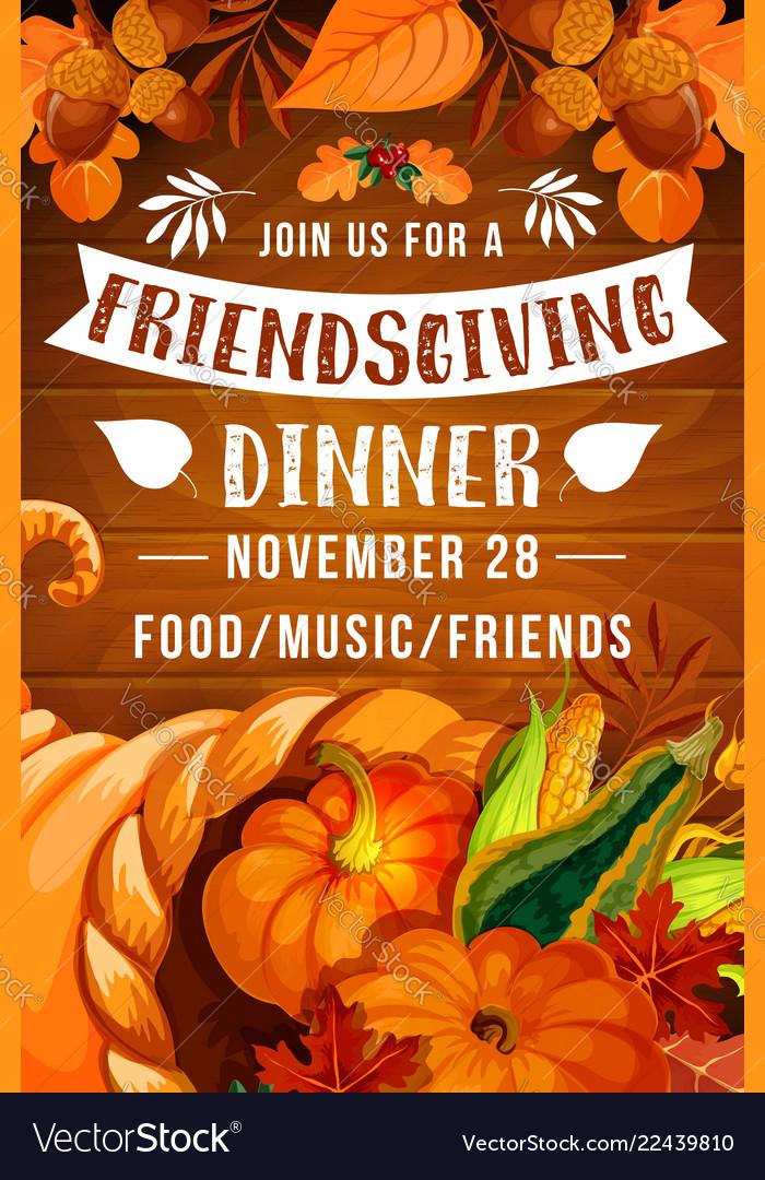 Thanksgiving day cornucopia friendsgiving potluck