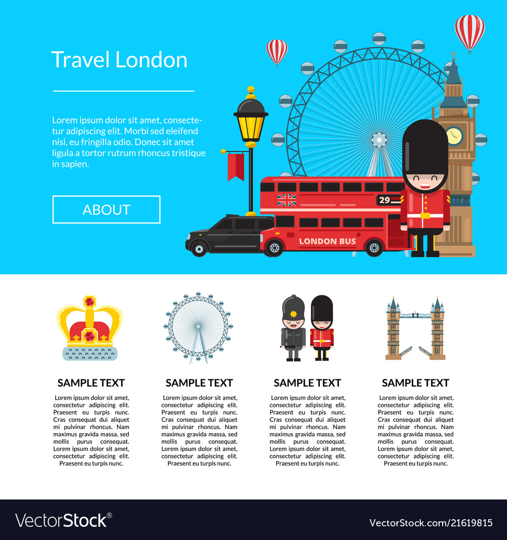 Cartoon london sights template