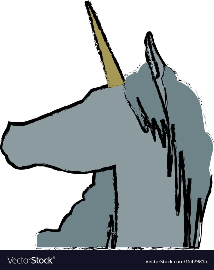 Head unicorn horn fantasy animal mythology