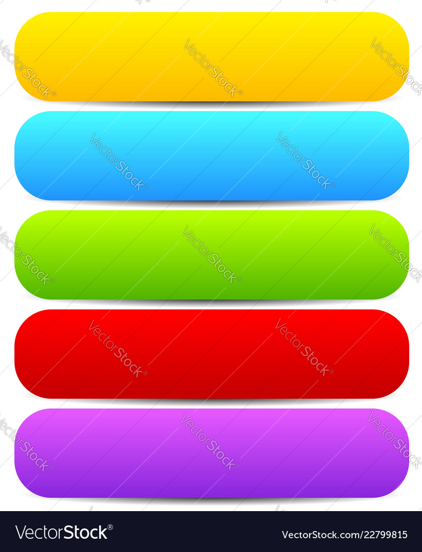 Horizontal buttons with blank space rounded