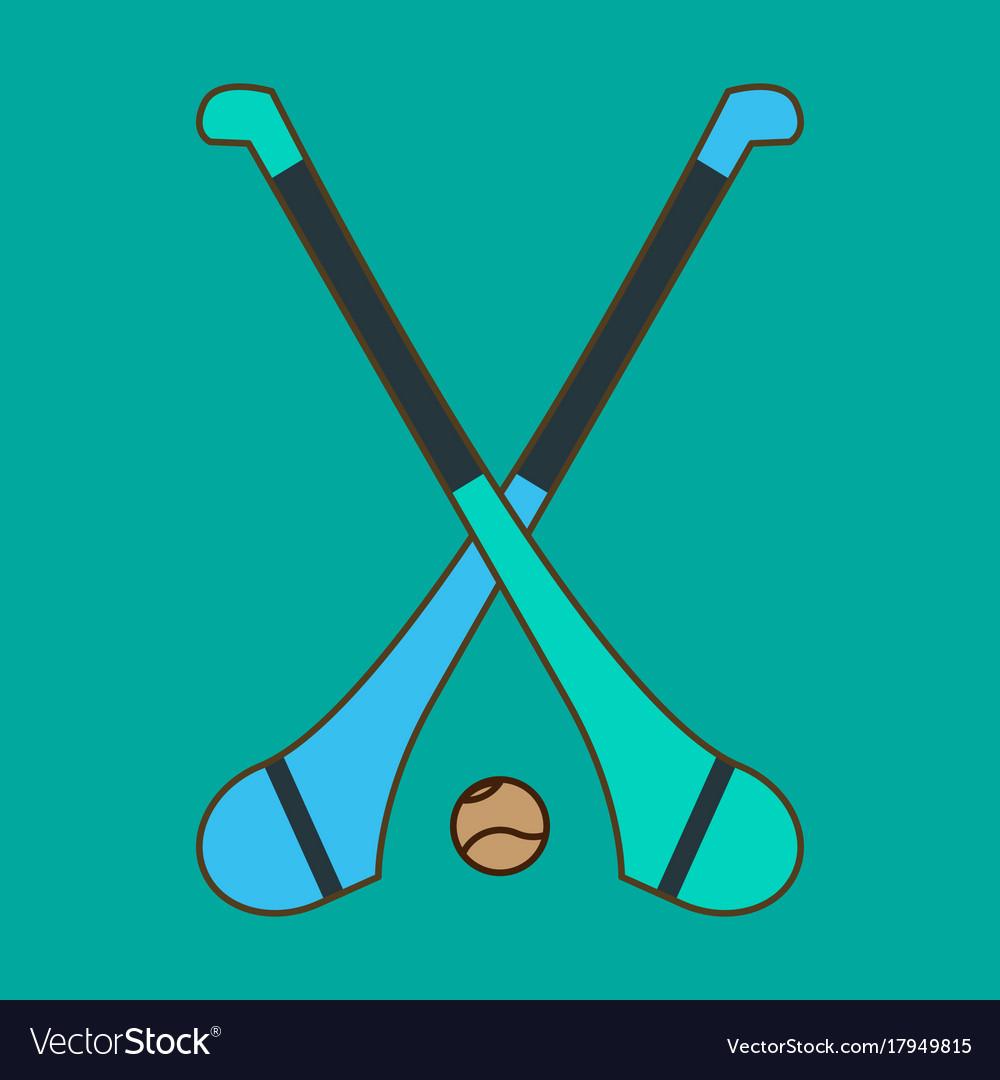 Hurling game irish hurling hurley and