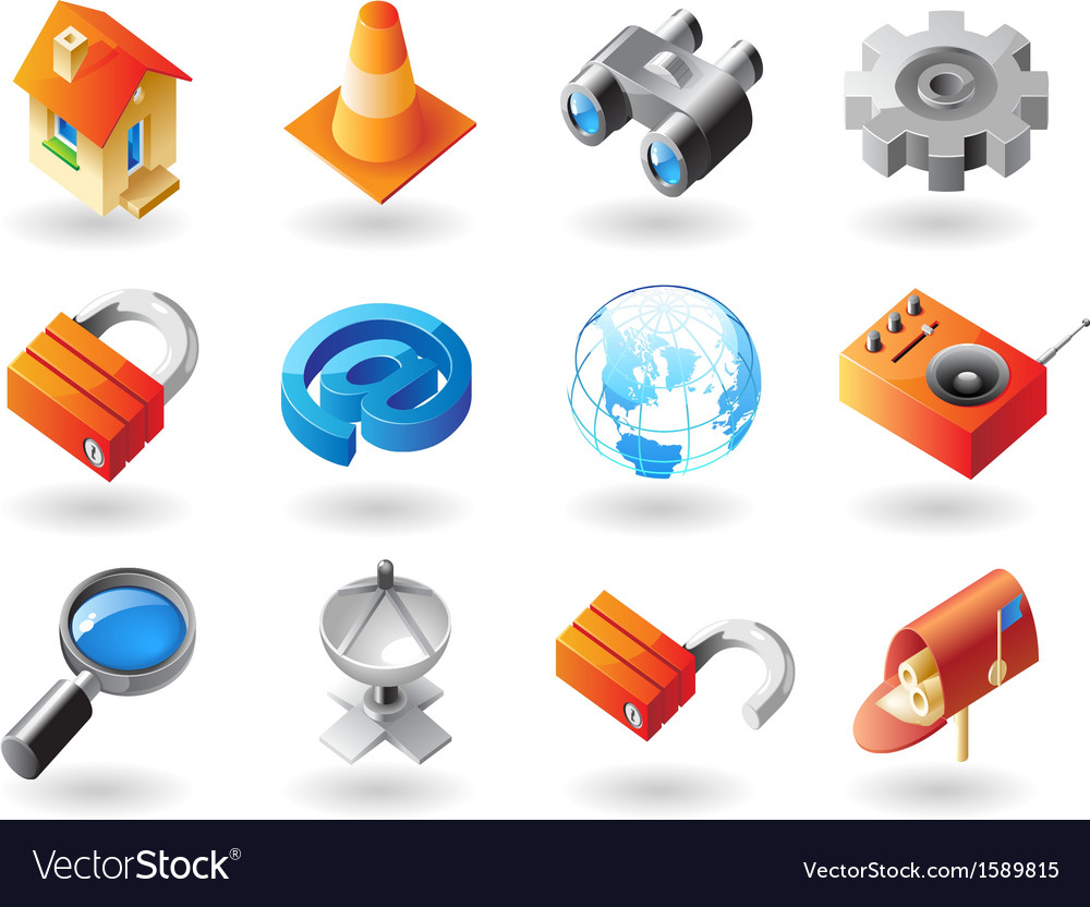 Icons for website interface