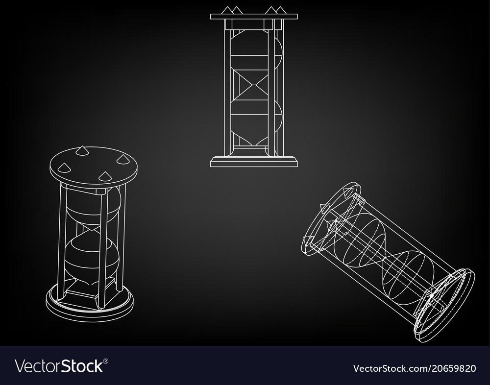 3d model of an hourglass