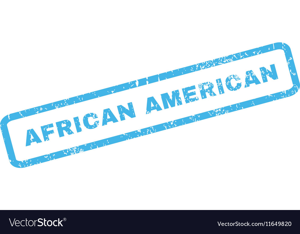 African American Rubber Stamp
