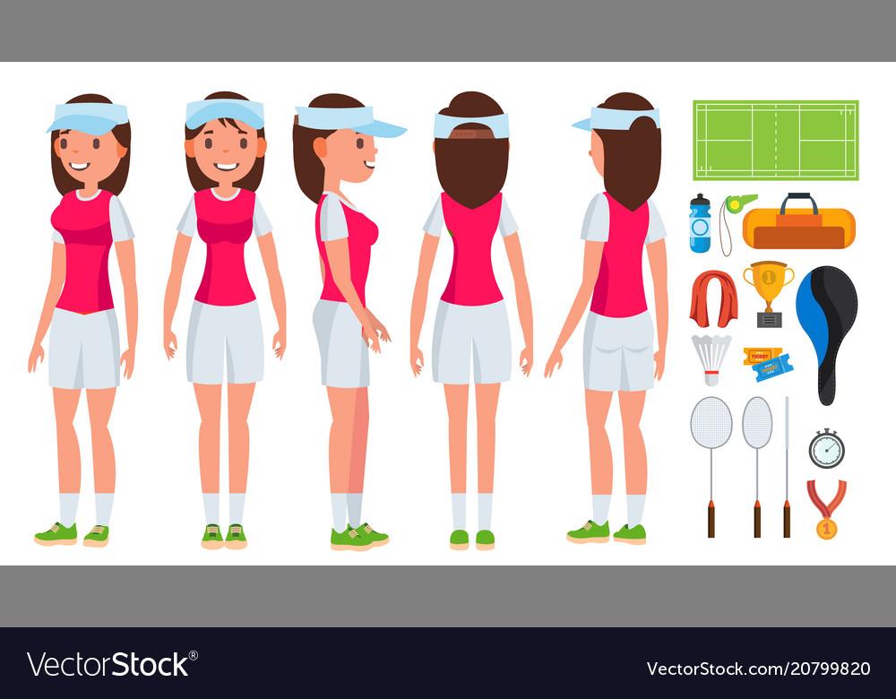 Badminton player female summer game