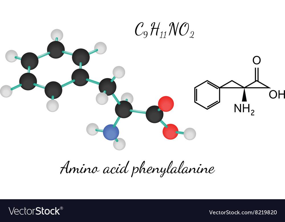 C9H11NO2 amino acid Phenylalanine molecule