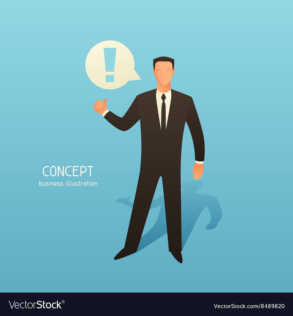 Concept business with businessman and vector image