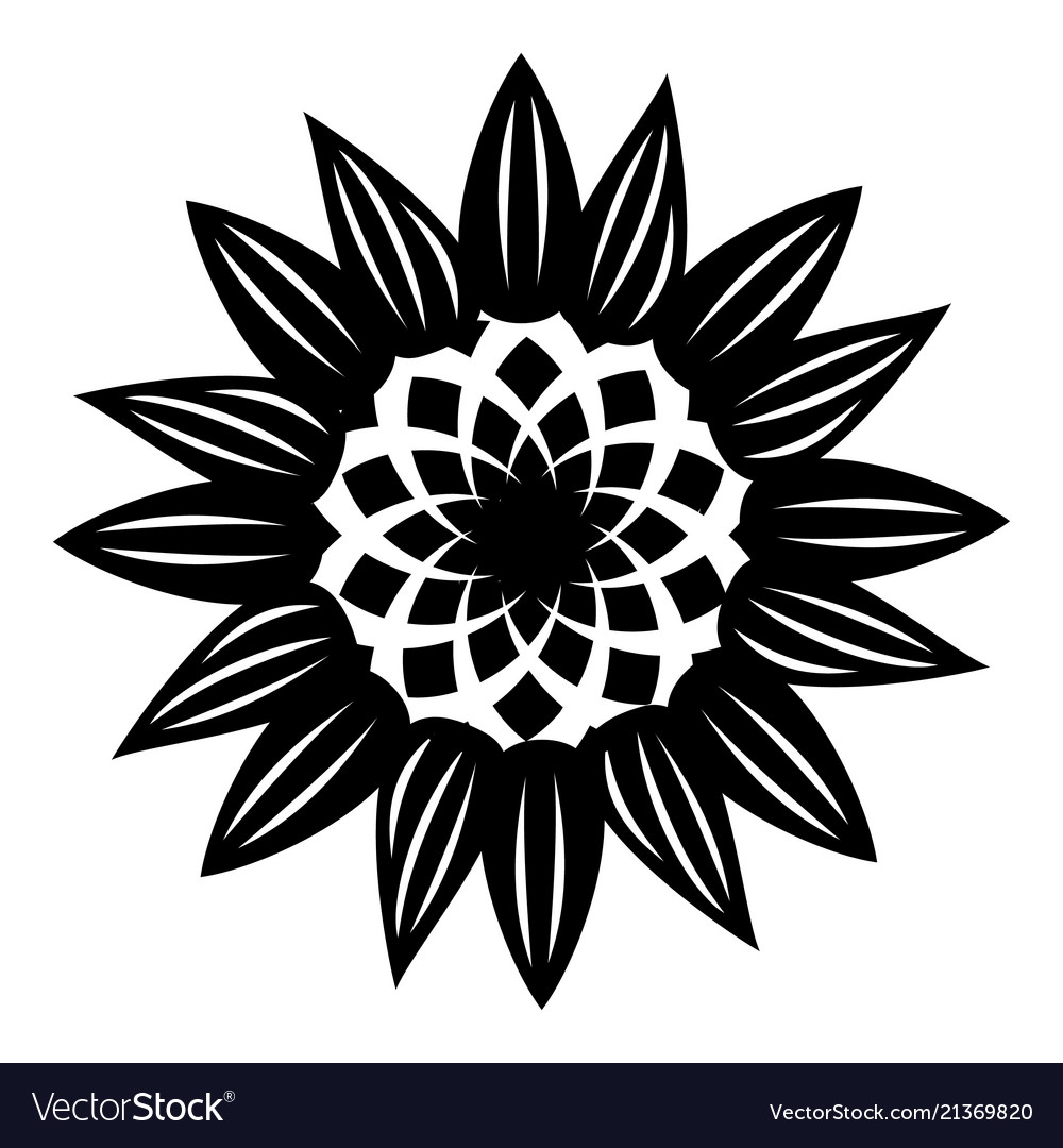 Decorative flower icon simple style