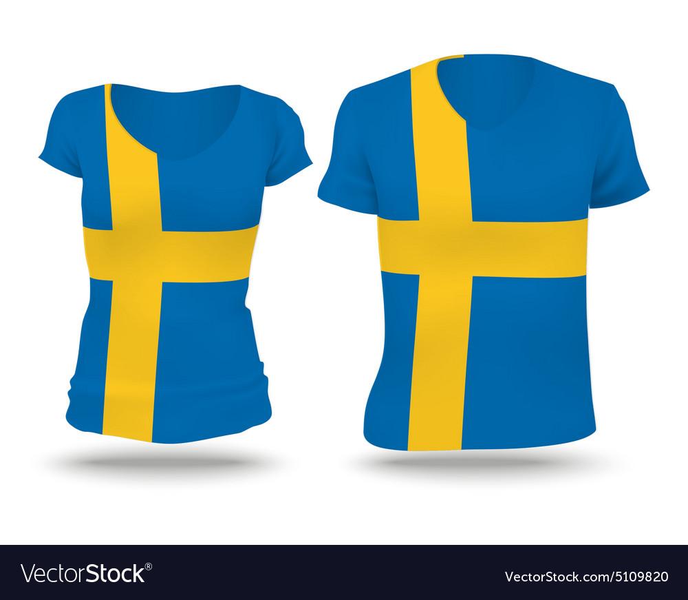 Flag shirt design of Sweden