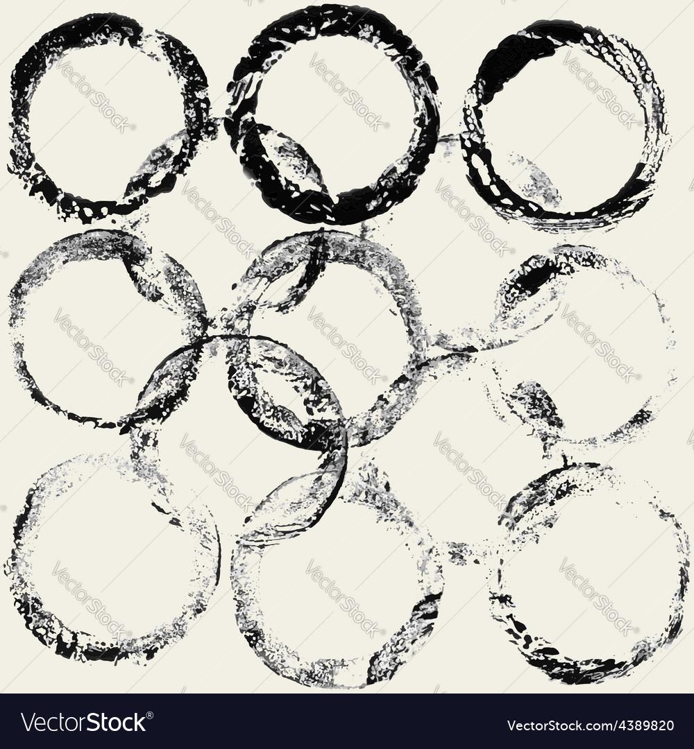 Ink grunge circles frame