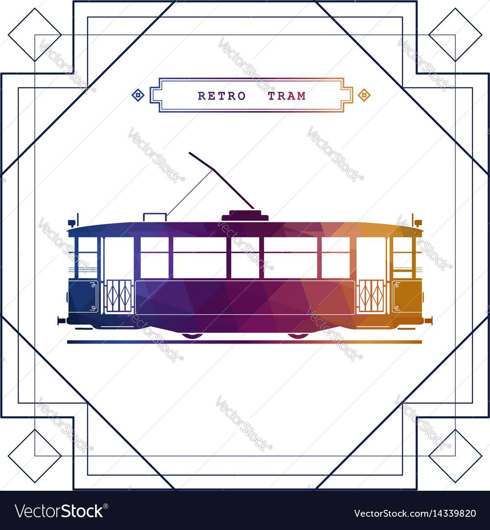 Multicolor retro tram car