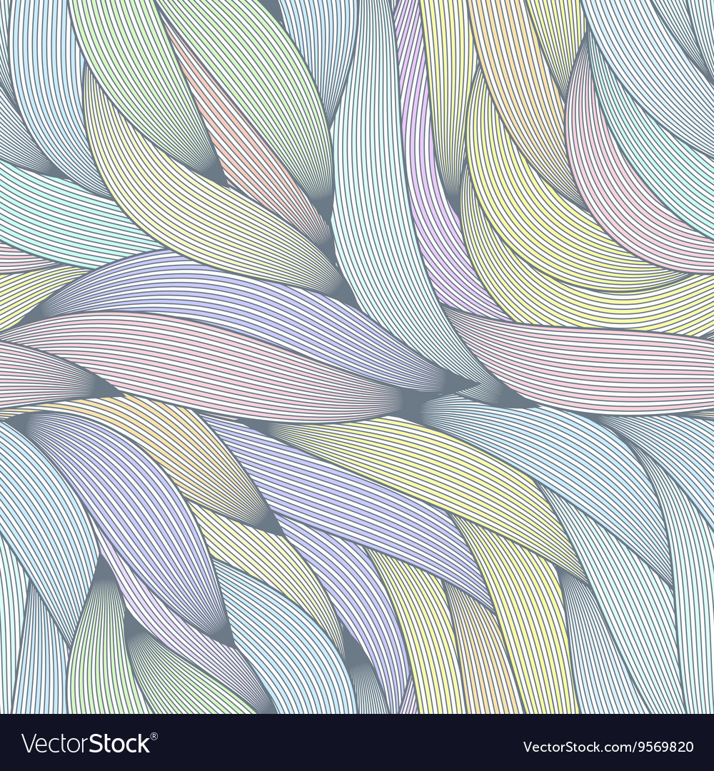 Seamless pattern of hair strands vector image