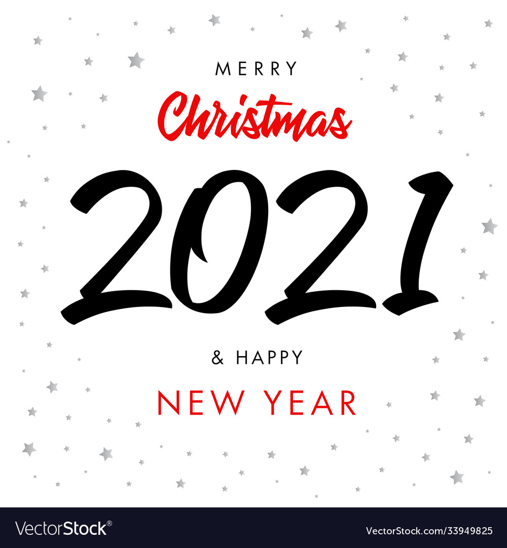 2021 happy new year script text hand lettering