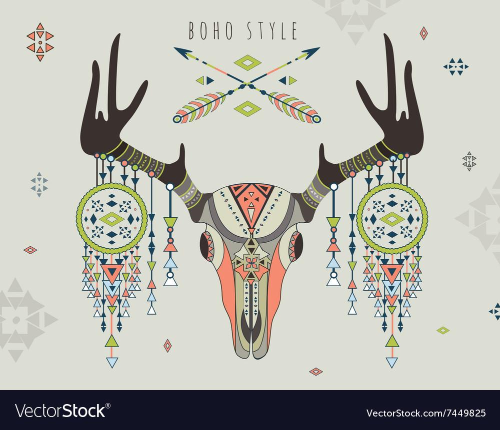 A deer skull vector image
