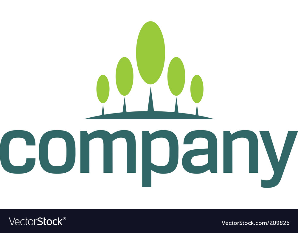 Financial growth logo vector image