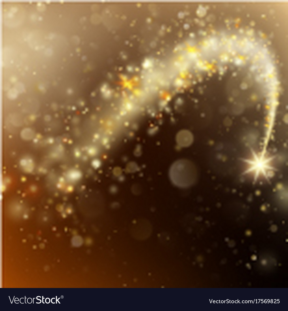 Glittering bokeh star dust template eps 10 Vector Image