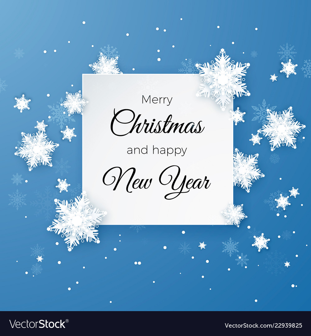 Christmas Greetings Images.Merry Christmas Greetings Card On Blue Background